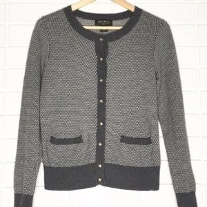 Eddie Bauer | Grey Cardigan Sweater Large